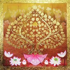 Asian Wall Art, Asian Art, Online Painting, Paintings Online, Bodhi Tree, Thai Art, Indian Art Paintings, Buy Art Online, Art Background