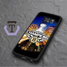 Boston Bruins Stanley Cup Champions Samsung Galaxy S6 Edge Plus Black Case