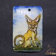 Scrimshaw Pendant  Carved Hand Painted Wolf  Rubber Stamp ZL20992 #ZL #Pendant