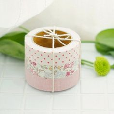fabric deco tape (need to make my own w/double sided sticky tape)
