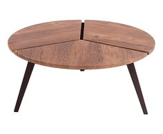 Table basse ELISE bois, naturel brut - Ø90