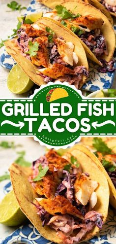 The perfect summer dinner recipe for weeknights! These easy Fish Tacos are one of the best food you will ever eat. While they are a healthy alternative to the deep-fried version, they are still… Lobster Recipes, Tilapia Recipes, Fish Recipes, Seafood Recipes, Mexican Food Recipes, Chicken Recipes, Healthy Recipes, Cheap Recipes, Savoury Recipes