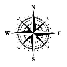 Art Design Vinyl NSWE Compass Car Stickers Decals Black Silver Car Stickers from Automobiles Motorcycles on Alibaba Group Nautical Compass Tattoo, Compass Art, Compass Tattoo Design, Compass Drawing, Compass Tattoo Forearm, Nautical Star Tattoos, Trendy Tattoos, Small Tattoos, Tattoos For Guys