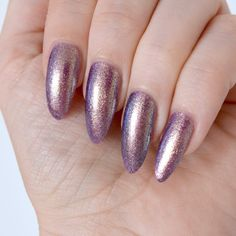 Four shades from the Ciaté Gelology range, including a dreamy rose gold and a colour-changing beauty. Purple Manicure, Purple Nail Art, Nail Manicure, My Nails, Manicures, Ciate Nail Polish, Pedicure, American Nails, Metallic Nails