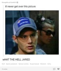 "Sometimes I see pictures of Jared and I'm like ""wtf Jared"""