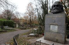 Historic:Having opened in the 19th century, the cemetery already hosts the graves of a number of famous names - including Karl Marx (above)