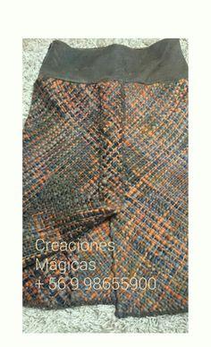 Falda telar con aplicaciones de cuero