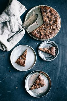 Nutella Brownie Tart Topped with Coffee Salt