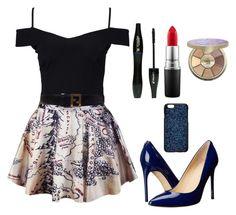 Outfit #730 by ivanna1920 on Polyvore featuring polyvore moda style New Look Ivanka Trump Fendi Swarovski tarte MAC Cosmetics Lancôme fashion clothing