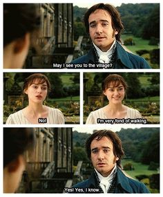 I am very fond of walking. Jane Austen, Pride and Prejudice.