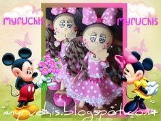 Fiesta Minnie, Centros de mesa infantiles,  fiestas infantiles, ideas fiesta Minnie myruchis.blogspot.com