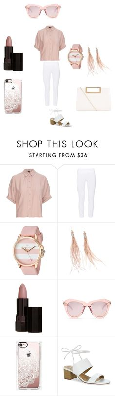 """""""Dusty Pink and White/ Really love this color"""" by hanna-debruhl on Polyvore featuring Topshop, ELLIOTT LAUREN, Juicy Couture, Serge Lutens, Karen Walker, Casetify, Tahari and New Look"""