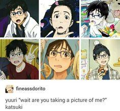 Yuri/Yuuri Katsuki / Yuri on Ice / // he is too cute for his own good I Love Anime, All Anime, Me Me Me Anime, Anime Manga, Anime Art, Anime Meme, Katsuki Yuri, Yuuri Katsuki, ユーリ!!! On Ice