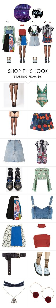 """""""At May KCA: Performing 'Just Like An Anime' + 'Night in Tokyo'"""" by gg-hx ❤ liked on Polyvore featuring Zimmermann, Calvin Klein, RE/DONE, Elie Saab, Jeffrey Campbell, ADRIANA DEGREAS, Prada, Topshop, Kenzo and Boohoo"""