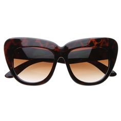 Designer Fashion Oversize Cat Eye Sunglasses 8300  zeroUV in tortoise $10