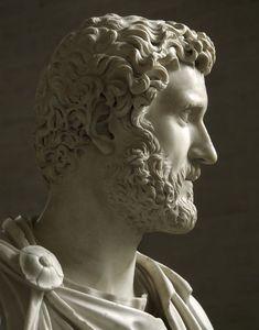 Emperor Antoninus Pius, Roman bust (marble), 2nd century AD, (Glyptothek Munich).