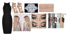 """Untitled #109"" by gracesmedley87 ❤ liked on Polyvore featuring Hervé Léger, Giuseppe Zanotti, Hermès, Eyeko, Urban Decay, Bobbi Brown Cosmetics, Edward Bess, Benefit, Giorgio Armani and Stila"