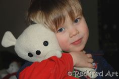 Quick Craft Post: Easy Rag Teddy Bear - Red Ted Art's Blog