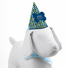 Custom Dog Party Hat  Blue Boy Puppy Party by BigDotOfHappiness, $3.98