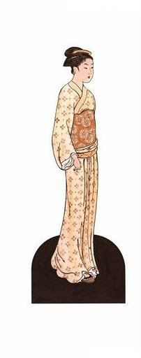 Kimono paper doll-Image* 1500 Free Paper Dolls Arielle Gabriel's The International Paper Doll Society for Pinterest Paper Dolls pals *