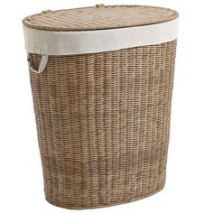 Make laundry day a laundry date with Collin. Hand-woven of moisture-resistant synthetic rattan with a fabric liner, this Pier 1 Exclusive is a durable and handsome hamper for containing the chaos of clothing and linens.