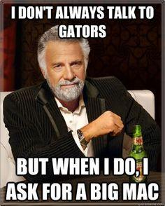 Haha- I don't always talk to Gators... #FSU #Seminoles