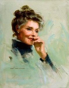 Katharine Hepburn by Everett Raymond Kinstler
