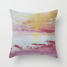 the sunset Design Lab, Tie Dye Skirt, Throw Pillows, Sunset, Toss Pillows, Cushions, Sunsets, Decor Pillows, Decorative Pillows