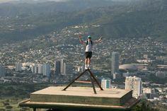 Michael  Spring break. HAWAII 2013. Diamond head.  Overlooking Honolulu