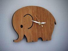 relógio de parede elefante