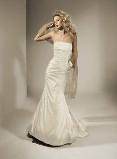 Garamaj Designer Silk Dress modified 'Consuella' gown Silk Dress Design, Silk Taffeta, Swedish Design, Wedding Dresses For Sale, Black Ribbon, Lace Applique, Mermaid Wedding, Gowns, Fashion