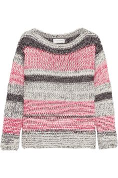 Étoile Isabel MarantStriped cotton-blend sweater