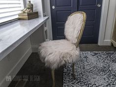 Do you have a vintage chair you would like to makeover? Does it seem a little intimidating? Scroll down and learn how to reupholster a chair with French country and Boho flair.Oh my, we are excited about this makeover! We are bringing together two styles in Ellie's bedroom makeover, French Country and Boho. She loves the two styles and adding a bit of Boho flair to this French country piece is so chic. Old Chairs, Vintage Chairs, Dining Chairs, Dining Furniture, Diy Furniture, Furniture Repair, Furniture Refinishing, Painted Furniture, Bar Stool Makeover