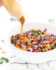 Chopped Asian Salad with Peanut Dressing.