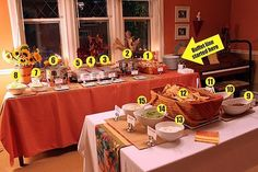 taco bar set up... Great ideas and detail.  I couldn't do all of these, but it's a great menu of options!