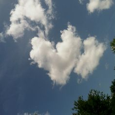 God's little gifts... Heart shaped clouds :-)