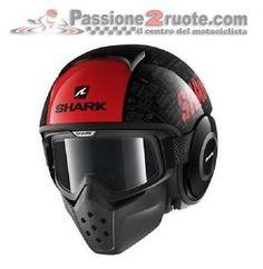 a helmet moto shark tribute black red casque helme helm size l