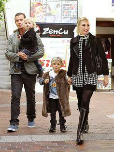 MODERN FAMILY  photo | Gavin Rossdale, Gwen Stefani, Kingston Rossdale, Zuma Rossdale.  Great Looking Family