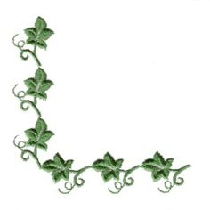 Similar Design In Straight Line Ivy Border Embroidery