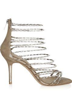 b705ca13568b Jimmy Choo - Lauren diamanté and suede sandals