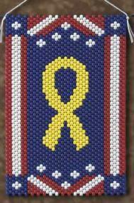 Yellow Peace Ribbon Beaded Banner Kit The Beadery Craft - $18.99