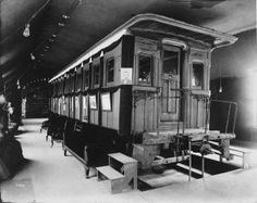 Abraham Lincoln's private railroad car on exhibit at the 1904 World's Fair.