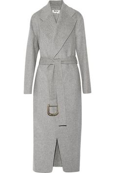 Stone wool and cashmere-blend Slips on 85% wool, 15% cashmere Dry clean Imported
