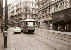 Prague Transport, Czech Republic, Old Photos, Most Beautiful Pictures, Transportation, Street View, Europe, Retro, City