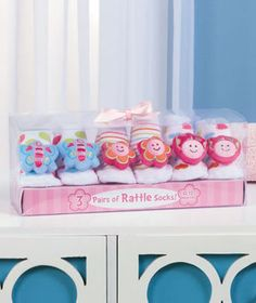 3-Pk. Infant Rattle Socks in a Box