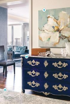Redesigning A Boston Condo In Sophisticated Gray And Blue