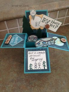 #ctmh timberline card in a box using Camper crazy stamp set The Brae-er | Just another WordPress site