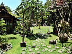 Lusciously green grounds of Desa Seni #yoga #green #bali #bliss #yogi
