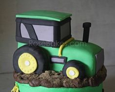 How to Make a Tractor Cake Picture Tutorial - Rose Bakes