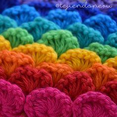 Crochet sequin stitch! Punto lentejuelas tejido a crochet paso a paso en video tutorial!